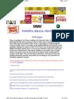Powerful Biblical Prayers