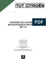 Systeme de Controle Moteur Bosch Motronic Mp70