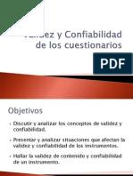 Contrucción de Cuestionarios Validez y Confiabilidad (2)