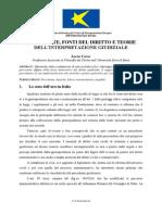 PRECEDENTE, FONTI DEL DIRITTO E TEORIE DELL'INTERPRETAZIONE GIUDIZIALE