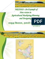 HARYANA an Example of New Vision in Agriicultural Marketing Planning and Designing1
