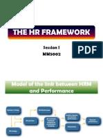 Session i - The Hr Framework