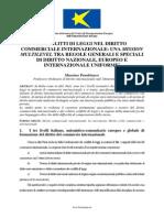 I CONFLITTI DI LEGGI NEL DIRITTO COMMERCIALE INTERNAZIONALE