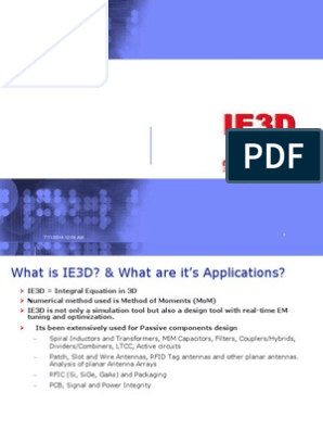 IE3D | Antenna (Radio) | Synthesizer
