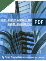 RICS APC - M006 - Conflict Avoidance