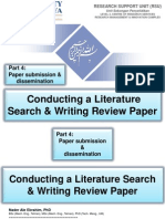 Conducting a Literature Search & Writing Review Paper,  Part 4