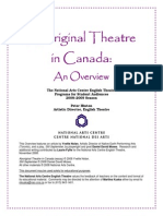 Aboriginal Theatre in Canada an Overview by Peter Hington