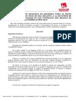 Moción Relativa a La Inclusión de Clausulas de Igualdad en Contratos