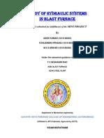 Study of Hydraulic Systems in Blast Furnace