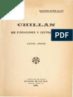 Chillan, Sus Fundaciones y Destrucciones, 1580 - 1835