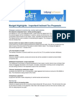 Budget Highlights - Indirect Taxes