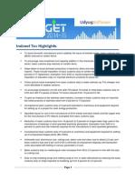 Budget Highlights 2014-15