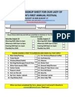 Volunteer Signup Sheet for ololFestival