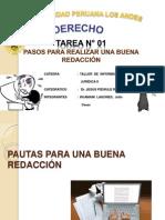 PAUTAS PARA UNA BUENA REDACCION TAREA N°01