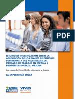 """""""Estudio de Investigación sobre la Adecuación de los Planes de Estudios Universitarios a las Necesidades del Mercado de Trabajo en España y Propuestas para su Mejora"""" SUECIA"""