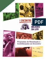Caderno de Resoluções e Contribuições