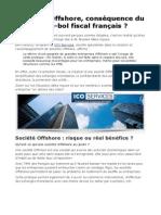 Sociétés Offshore, conséquence du ras-le-bol fiscal français ?
