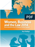 WB Women Business and the Law 2014 Key Findings