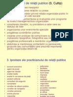 Calitati si activitati - relatii publice