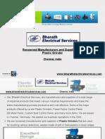 Plastic Waste Grinding Machine Manufacturers, Suppliers in Chennai, Tamilnadu, India - Bharath Electrical Services