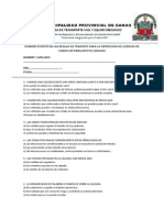Examen Escrito de Las Reglas de Transito - Motos Lineales
