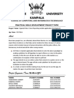 Topic document for police app