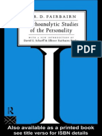 W. Fairbairn-Psychoanalytic Studies of the Personality (1994)
