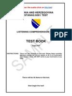 Listening Comprehension Test STANAG 6001
