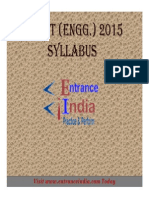 MU OET Engineering Syllabus by Entranceindia