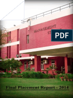 FMS, Final Placement Report, 2014