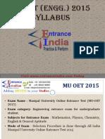 MU OET Engineering Syllabus by Entranceindia