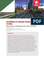 Governance of Regional Transit Systems