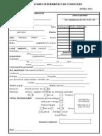 Fisa Detinatorului Permisului de Conducere ANEXA 4