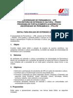Edital para bolsa de extensão UPE 2010