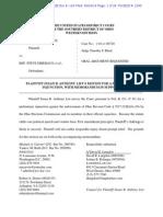 SBA List Motion for Preliminary Injunction
