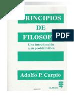 Adolfo P. Carpio - Principios de Filosofía. Una Introducción a Su Problemática