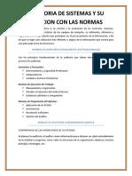 AUDITORIA DE SISTEMAS Y SU RELACION CON LAS NORMAS.docx