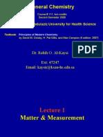 Lecture 1- Matter & Measurement