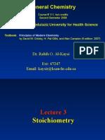 Lecture 3- Stoichiometry