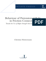 Behaviour Pretension Bolts in Friction