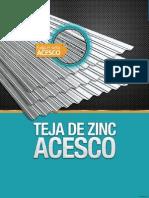 Ficha Tecnica - Teja Zinc