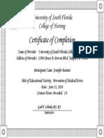 prevention of medical errors certificate-jb