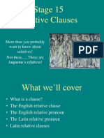 Relative Clauses in Latin