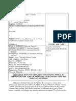Brinkman et al. v. Long, Case No. 13CV32572, Attorney General's Emergency Motion for Injunction