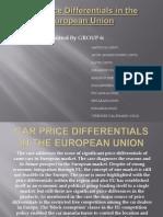 Car Price Differentials in the European Union