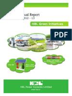 HBL Annual Report 2012-2013