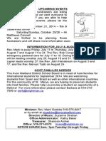 Knox July 13 2014, Bulletin