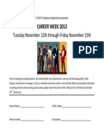 career week flyer