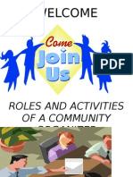 08 ROLES AND ACTIVITIES OF A COMMUNITY ORGANIZER