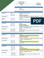 July 2014 Schedule